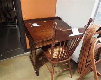 Antique Desk & Chairs.