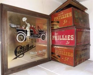 "Cadillac ""Thirty"" For 1911 Mirror & Phillies Cigar Boxes"