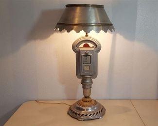 parking meter lamp w/ art deco base