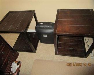 Tables/shredder, home office items...