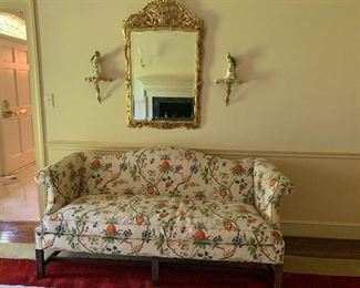 Floral Chippendale Style Sofa by Southwood Furniture Company