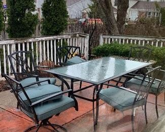 6 pc Patio Set with Cushions