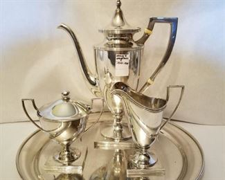 Wilcox and Wagner sterling  tea set