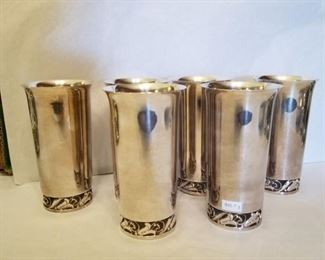Mexican silver goblets