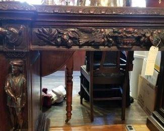 Wonderful, heavily carved sideboard