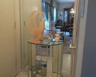 mirrored demilune