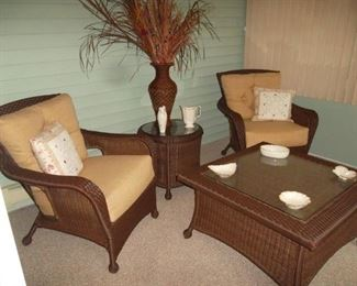 faux wicker patio grouping