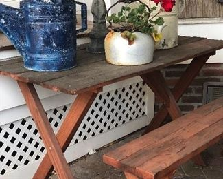 Vintage Picnic Table and Bench