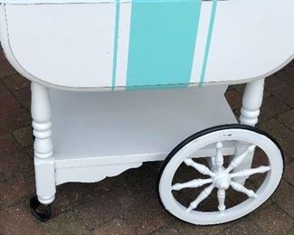 Painted Vintage Tea Cart