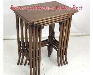 Lot 701 Set 4 Hoffman Style Bentwood Nesting Tables. Rect