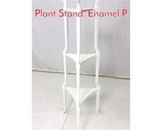 Lot 700 Tommi Parzinger Style White Plant Stand. Enamel P