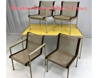 Lot 705 5pc RICHARD SCHULTZ Outdoor Dining Table  Chairs