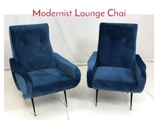Lot 706 Pr Italian Style Cloud Side Modernist Lounge Chai