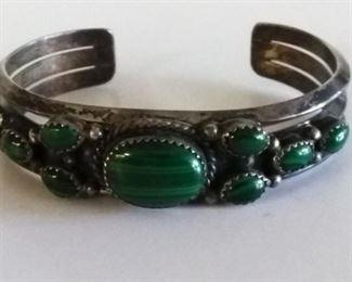 bracelet green malachite