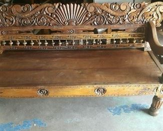 Beautiful Hand Carved Balinese Couch/ Bench. Also have a huge Amorie that will compliment this.
