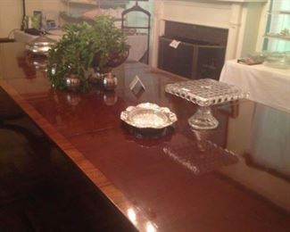Elegant dining room table (no chairs but accommodates 10 easily)