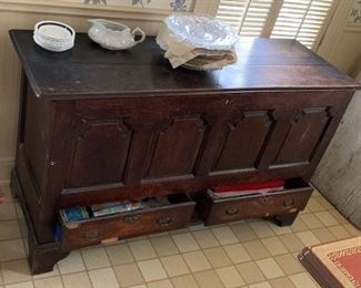 a nice old blanket chest