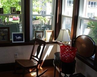 SEWING TABLE, ROCKING CHAIR