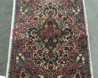 Lot 8 - Handmade vibrant jewel tone wool carpet with classic Persian Kirman style