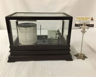 Lot 27 - Antique Taylor Instrument Co. Cyclo-Stormograph weather machine in case