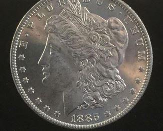 Lot 86 - MS quality 1885-O silver Morgan dollar