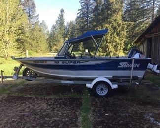 Lot 104 - 1995 Sylvan sport/ fishing boat W / trailer and 2 outboards 6.0 Johnson / 50hp 2012 Tohatsu MD50B2