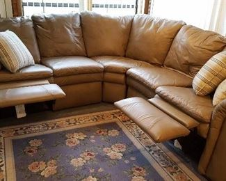 Lazy Boy sectional with recliners on both ends