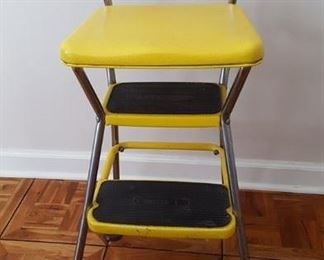 Yellow step stool chair