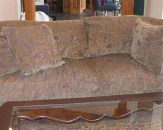 BEAUTIFUL SOFA AND MATCHING CHAIR  with ottoman