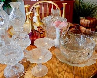 lots of lovely crystal and glass