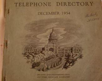 1954 Austin Phone Book