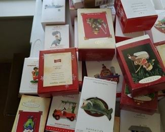 100 Hallmark Ornaments with boxes