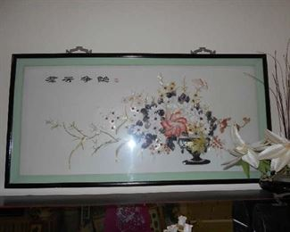Asian picture made from sea shells