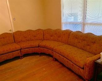 Awesome Art Deco Curved Sectional Sofa (3 Sections)