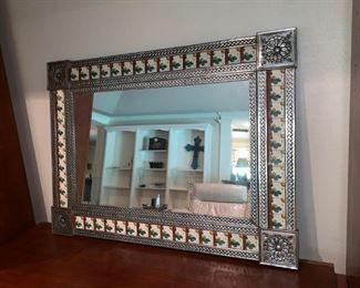 Trendy Silver Rimmed Mirror