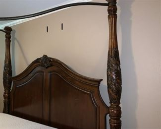 Beautiful King Size Four Poster Bed with Ironwork Canopy