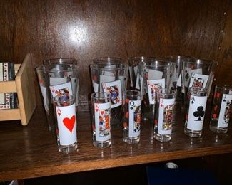 Playing Cards Drinking Glasses