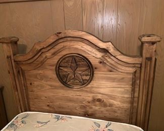 Awesome Rustic Wood Twin Bed with Texas Star ;)