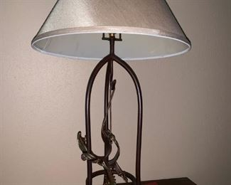 Iron Lamp with Spurs