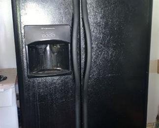 Side by Side Black Frigidaire Refrigerator