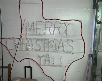 Merry Christmas Yall Outdoor Sign