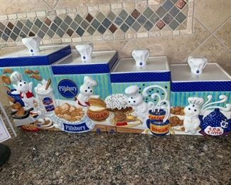 Awesome Pillsbury Doughboy Canister Set!