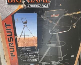 Big Game Treestand The Pursuit Tripod Stand, New in Box