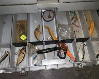Fishing Tackle Boxes and Vintage Lures