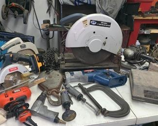 """Power Tools Including 14"""" ADT Cut Off  Saw"""