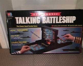 Vintage Electronic Talking Battleship Game