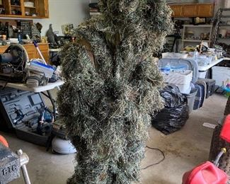 Mandy camouflaged n a Ghillie Suit. Yes for sale!
