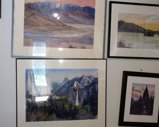 A hoard of original art for sale. Some by the owner and others he collected.