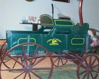 John Deere Child's wood Buckboard Wagon
