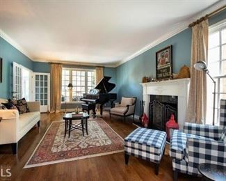 All furnishings in the living room are being sold with the exception of the piano. All upholstered pieces are Ethan Allen and just a bit over three years old.